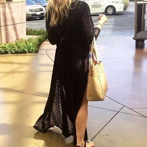 Maxi floor length  Cover up! In Black
